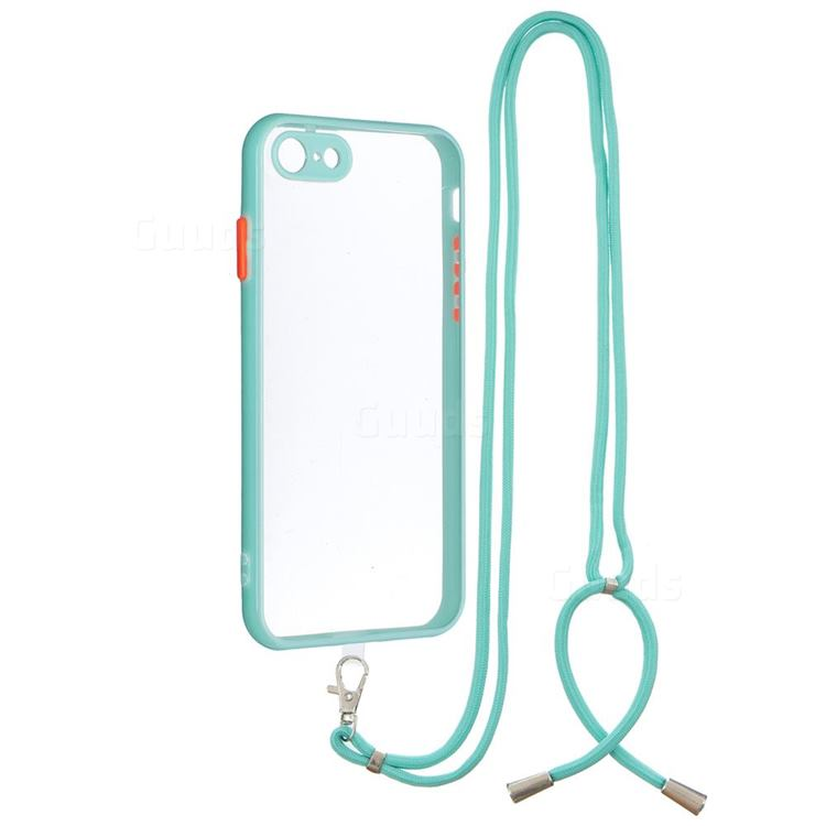 Necklace Cross-body Lanyard Strap Cord Phone Case Cover for iPhone 8 / 7 (4.7 inch) - Blue