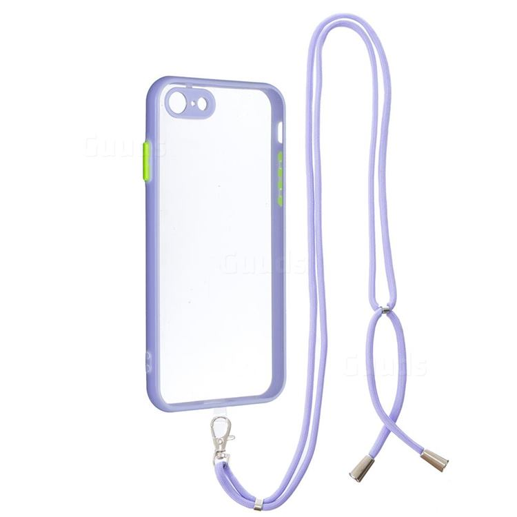 Necklace Cross-body Lanyard Strap Cord Phone Case Cover for iPhone 8 / 7 (4.7 inch) - Purple