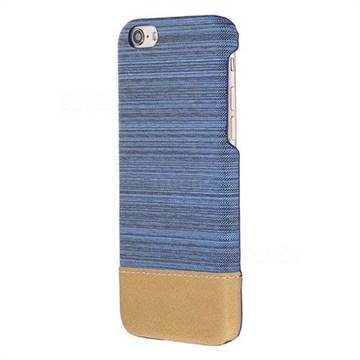 Canvas Cloth Coated Plastic Back Cover for iPhone 8 / 7 (4.7 inch) - Light Blue