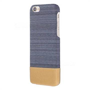 Canvas Cloth Coated Plastic Back Cover for iPhone 8 / 7 (4.7 inch) - Dark Grey