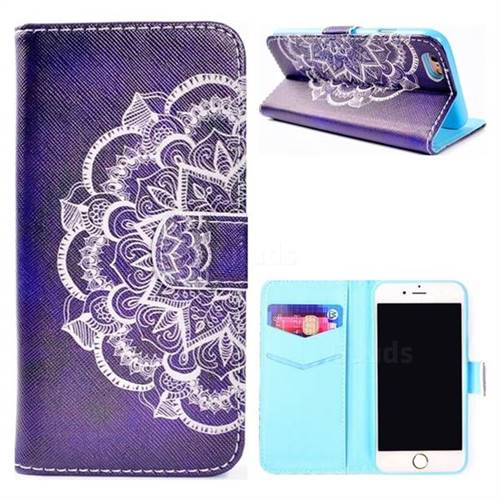 Half Lace Mandala Flower Stand Leather Wallet Case for iPhone 8 / 7 (4.7 inch)