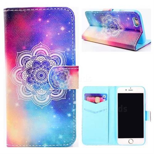 Sky Mandala Flower Stand Leather Wallet Case for iPhone 8 / 7 (4.7 inch)