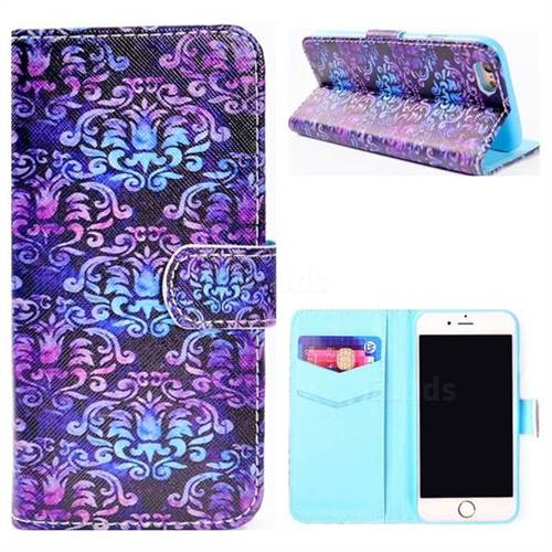 Royal Mandala Flower Stand Leather Wallet Case for iPhone 8 / 7 (4.7 inch)