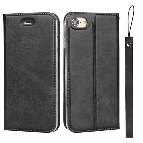 Calf Pattern Magnetic Automatic Suction Leather Wallet Case for iPhone 8 / 7 (4.7 inch) - Black
