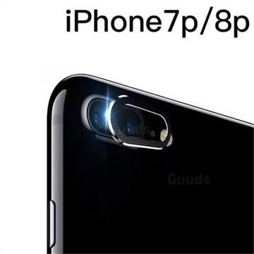 new product d7408 f295b Rear Camera Lens Protector Ultra Thin Metal Back Camera Screen Cover Case  for iPhone 8 Plus / 7 Plus 7P(5.5 inch) - Black