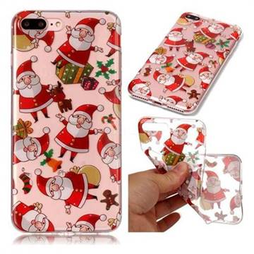 Santa Claus Super Clear Soft TPU Back Cover for iPhone 8 Plus / 7 Plus 7P(5.5 inch)