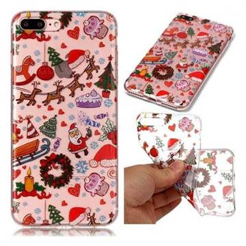 Christmas Playground Super Clear Soft TPU Back Cover for iPhone 8 Plus / 7 Plus 7P(5.5 inch)