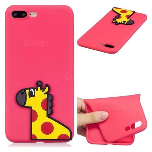 Yellow Giraffe Soft 3D Silicone Case for iPhone 8 Plus / 7 Plus 7P(5.5 inch)