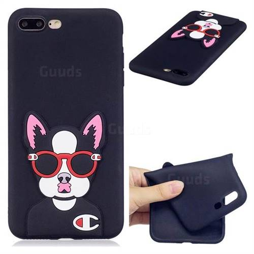 Glasses Gog Soft 3D Silicone Case for iPhone 8 Plus / 7 Plus 7P(5.5 inch)