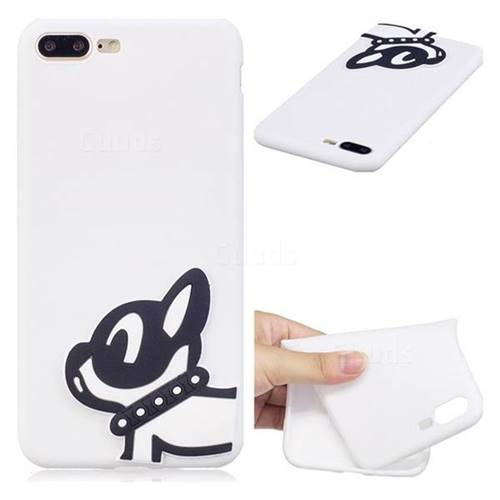 Cute Dog Soft 3D Silicone Case for iPhone 8 Plus / 7 Plus 7P(5.5 inch)