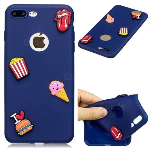 I Love Hamburger Soft 3D Silicone Case for iPhone 8 Plus / 7 Plus 7P(5.5 inch)