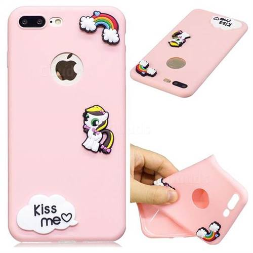 Kiss me Pony Soft 3D Silicone Case for iPhone 8 Plus / 7 Plus 7P(5.5 inch)
