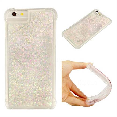 Dynamic Liquid Glitter Sand Quicksand Star TPU Case for iPhone 8 Plus / 7 Plus 7P(5.5 inch) - Pink