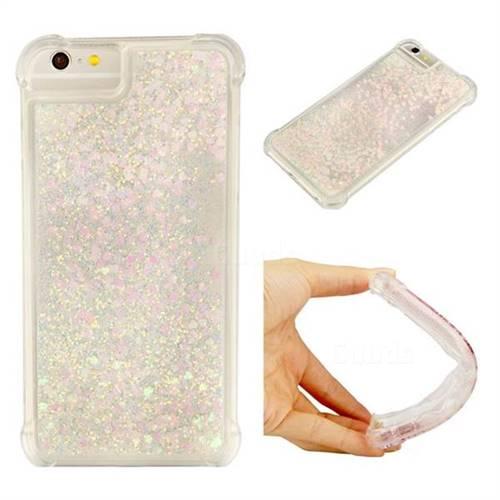 Dynamic Liquid Glitter Sand Quicksand Star TPU Case for iPhone 8 Plus / 7 Plus 7P(5.5 inch) - Pink