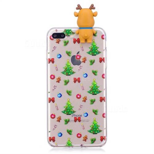 christmas bow soft 3d climbing doll soft case for iphone 8 plus 7 plus 7p