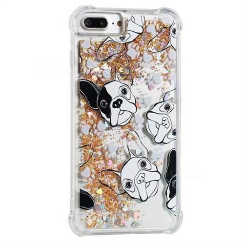 Bulldog Dynamic Liquid Glitter Sand Quicksand Star TPU Case for iPhone 8 Plus / 7 Plus 7P(5.5 inch)