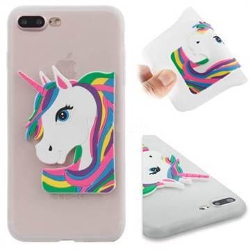 Unicorn iPhone 7 Plus Silicon Case in White