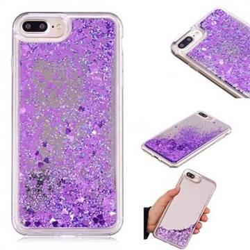 Glitter Sand Mirror Quicksand Dynamic Liquid Star TPU Case for iPhone 8 Plus / 7 Plus 7P(5.5 inch) - Purple