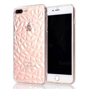 Diamond Pattern Shining Soft TPU Phone Back Cover for iPhone 8 Plus / 7 Plus 7P(5.5 inch) - Transparent