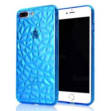 Diamond Pattern Shining Soft TPU Phone Back Cover for iPhone 8 Plus / 7 Plus 7P(5.5 inch) - Blue