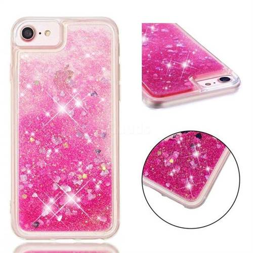 Dynamic Liquid Glitter Quicksand Sequins TPU Phone Case for iPhone 8 Plus / 7 Plus 7P(5.5 inch) - Rose
