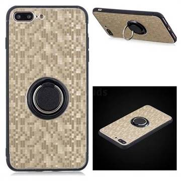 new arrival eaaf2 00e1a Luxury Mosaic Metal Silicone Invisible Ring Holder Soft Phone Case for  iPhone 8 Plus / 7 Plus 7P(5.5 inch) - Titanium Gold