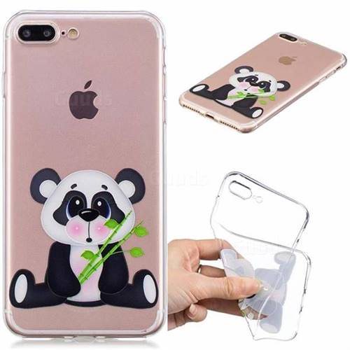 Bamboo Panda Clear Varnish Soft Phone Back Cover for iPhone 8 Plus / 7 Plus 7P(5.5 inch)
