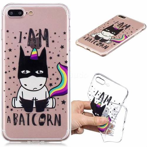 Batman Clear Varnish Soft Phone Back Cover for iPhone 8 Plus / 7 Plus 7P(5.5 inch)