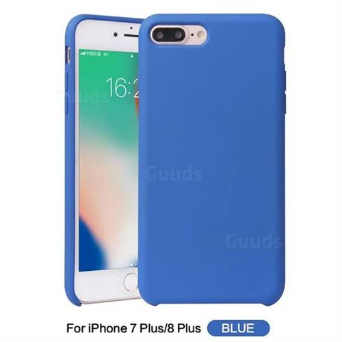promo code f6d26 aa000 Howmak Slim Liquid Silicone Rubber Shockproof Phone Case Cover for iPhone 8  Plus / 7 Plus 7P(5.5 inch) - Sky Blue