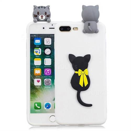 online retailer 34e0d 59e4e Little Black Cat Soft 3D Climbing Doll Soft Case for iPhone 8 Plus / 7 Plus  7P(5.5 inch)