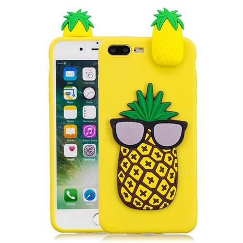 the latest b0c43 ddb3f Big Pineapple Soft 3D Climbing Doll Soft Case for iPhone 8 Plus / 7 Plus  7P(5.5 inch)