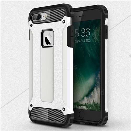 King Kong Armor Premium Shockproof Dual Layer Rugged Hard Cover for iPhone 8 Plus / 7 Plus 7P(5.5 inch) - White
