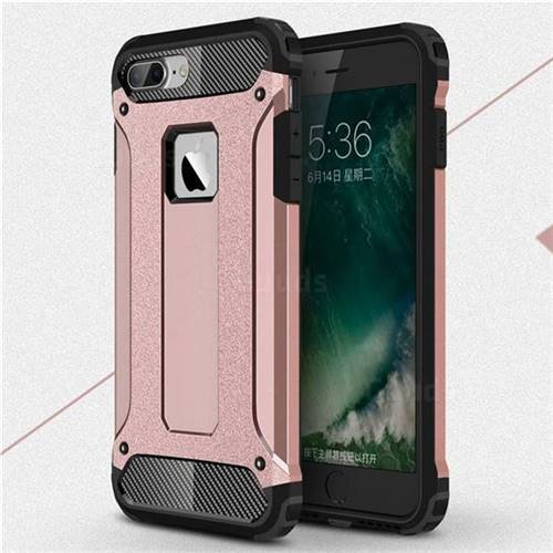 King Kong Armor Premium Shockproof Dual Layer Rugged Hard Cover for iPhone 8 Plus / 7 Plus 7P(5.5 inch) - Rose Gold
