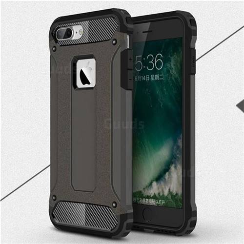 King Kong Armor Premium Shockproof Dual Layer Rugged Hard Cover for iPhone 8 Plus / 7 Plus 7P(5.5 inch) - Bronze