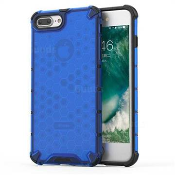 Honeycomb TPU + PC Hybrid Armor Shockproof Case Cover for iPhone 8 Plus / 7 Plus 7P(5.5 inch) - Blue