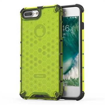 Honeycomb TPU + PC Hybrid Armor Shockproof Case Cover for iPhone 8 Plus / 7 Plus 7P(5.5 inch) - Green