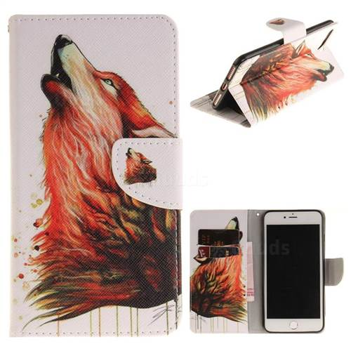 Color Wolf PU Leather Wallet Case for iPhone 8 Plus / 7 Plus 8P 7P(5.5 inch)