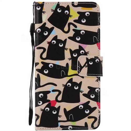 online retailer 931a0 aab53 Cute Kitten Cat PU Leather Wallet Case for iPhone 8 Plus / 7 Plus 8P 7P(5.5  inch)