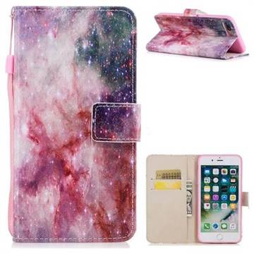 Cosmic Stars PU Leather Wallet Case for iPhone 8 Plus / 7 Plus 7P(5.5 inch)