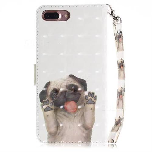 newest e3ba9 4dcbf Pug Dog 3D Painted Leather Wallet Phone Case for iPhone 8 Plus / 7 Plus  7P(5.5 inch)
