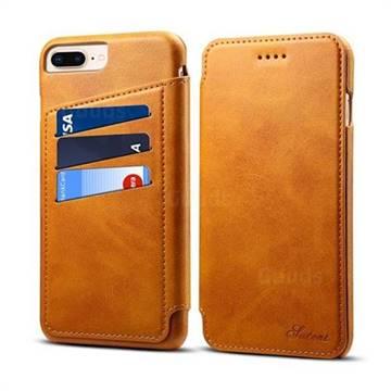 pretty nice 3403f 1a426 Suteni Retro Classic Card Slots PU Leather Wallet Case for iPhone 8 Plus /  7 Plus 7P(5.5 inch) - Khaki