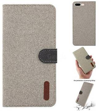 quality design 230af 9e66a Linen Cloth Pudding Leather Case for iPhone 8 Plus / 7 Plus 7P(5.5 inch) -  Light Yellow