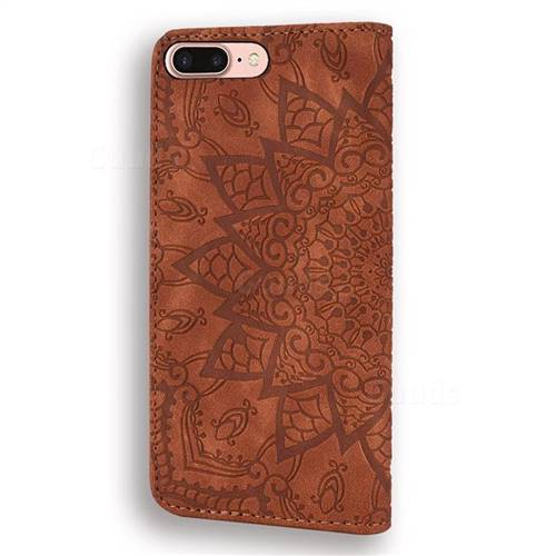 Purple Vaburs iPhone 7/iPhone 8 iPhone SE 2020/Case Wallet with Card Holder Embossed Mandala Pattern/Flower Premium PU Leather Double Magnetic Buttons Flip Shockproof Protective Case