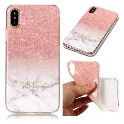 Glittering Rose Gold Soft Tpu Marble Pattern Case For Iphone Xs X 10 5 8 Inch Tpu Case Guuds