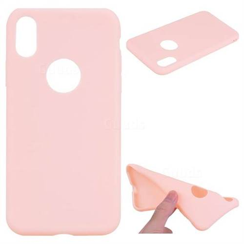 Pink Candy Soft TPU Back Cover for iPhone XS / X / 10 (5.8 inch)