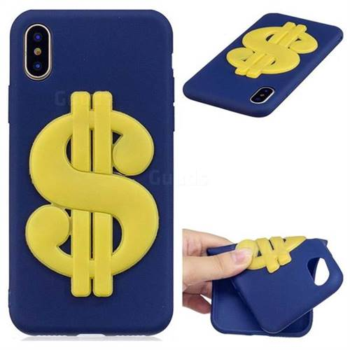US Dollars Soft 3D Silicone Case for iPhone XS / X / 10 (5.8 inch)