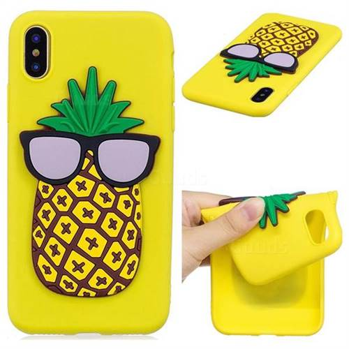 Pineapple Soft 3D Silicone Case for iPhone XS / X / 10 (5.8 inch)