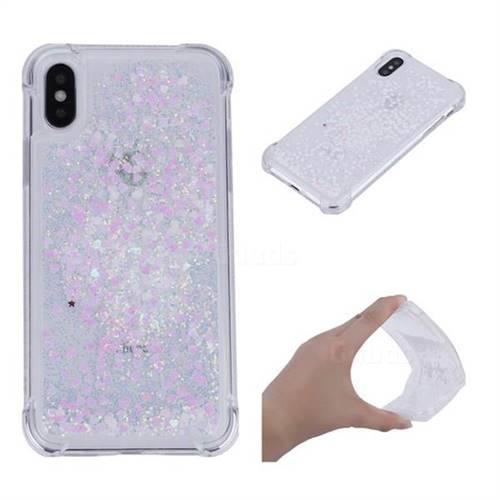 Dynamic Liquid Glitter Sand Quicksand Star TPU Case for iPhone X(5.8 inch) - Pink