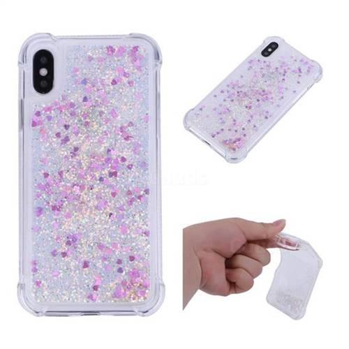 Dynamic Liquid Glitter Sand Quicksand Star TPU Case for iPhone XS / X / 10 (5.8 inch) - Rose