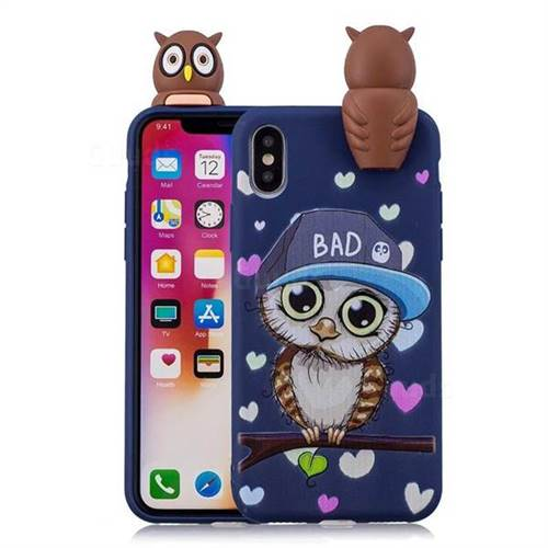 Bad Owl Soft 3D Climbing Doll Soft Case for iPhone XS / X / 10 (5.8 inch)